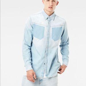 G star raw men modern arc denim shirt